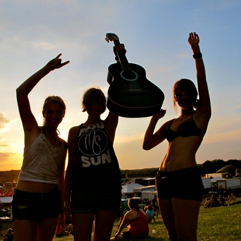 A music festival a few weeks before college began