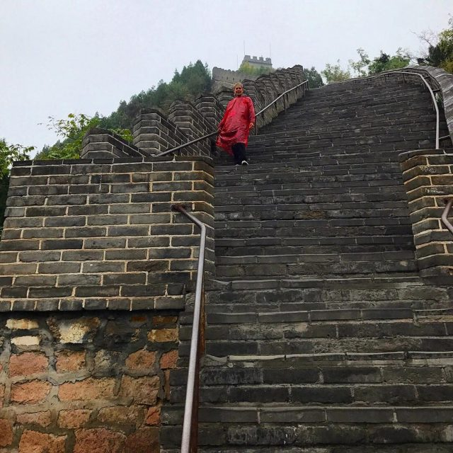 My mom climbed the Great Wall of China